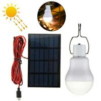 3/15W Portable Solar Powered LED Rechargeable Bulb Light Outdoor Camping Lamp