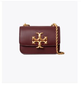 Tory Burch Eleanor Small Convertible Shoulder Bag - CLARET