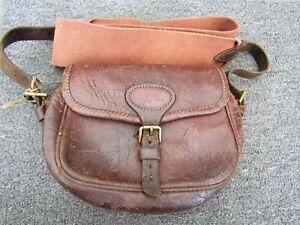 Vintage Payne Galwey 50 Cartridge Cowhide Leather Shot Bag / Hunting