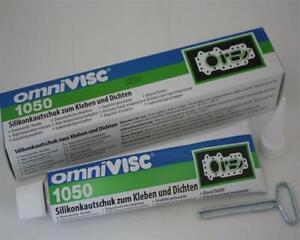 1 x Henkel Omnivisc Silikonkautschuk 1050  zum Kleben und Dichten 90g