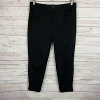 Womens White House Black Market The Slim Ankle Pants Size 10 Black Pockets