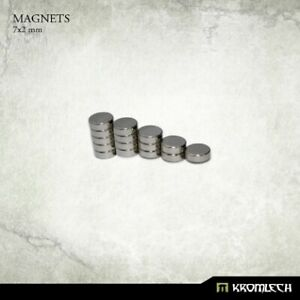 KROMLECH Neodymium disc magnets 7mm X 2mm (15 units) Sigmar 40K magnetized NEW