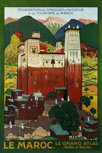 Ounila Valley Morocco Maroc Arab Tourism Travel Vintage Art Wall - POSTER 24x36