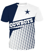 Dallas Cowboys Football Casual T-Shirt Summer Short Sleeve Tee Top Gift For Fans