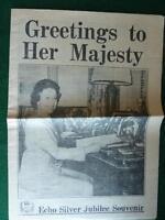 Dorset Daily Echo Silver Jubilee Souvenir Supplement 1977 Queen Elizabeth II