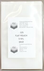 5 Mil 6x10 125ct COMMERCIAL FLAT CHAMBER BAGS Vacuum Sealing ARY VacMaster