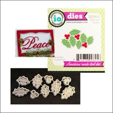 Christmas Holly Cluster metal die Impression Obsession cutting dies DIE098-A