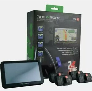 "Tire Insight Full Color 5"" GPS Navigation System Touch Screen with TPMS Sensors"