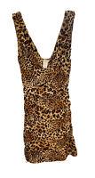 Womens Body Central Big Cat Club Animal Print Cheetah Leopard Dress Size Small