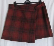 Short/Mini Wool Checked Casual Skirts for Women