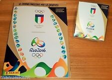 PANINI OLIMPIADI RIO 2016 ALBUM VUOTO + BOX 50 packets bustine DISPLAY figurine