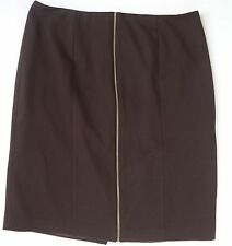 Women's Size 12, Brown Front Zipper Pencil Skirt by Sandro!