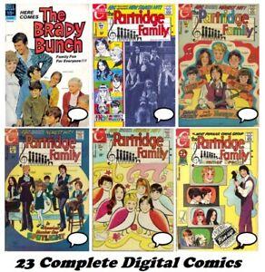 PARTRIDGE FAMILY Charlton Comics Complete Run #1-21 Digital DVD 1971 Brady Bunch