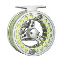 Fly Fishing Reel Combo 3/4/5/6/7/8WT Large Arbor Aluminum Fly Reel Fly Line