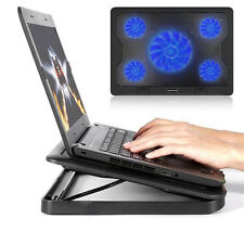 "5 Fans Blue LED 2 USB Port Cooling Stand Pad Cooler For 12""-17"" Laptop Note"