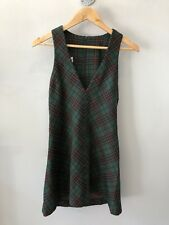 Vintage Plaid Wool School Uniform Dress Sz S-M
