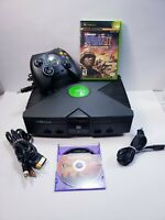 Original Microsoft Xbox Console Bundle with 2 Games & Cables [SM06] TESTED