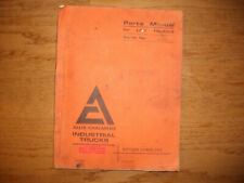 Allis Chalmers Forklift FCL60 FCL70 Parts Manual 1972 FCL