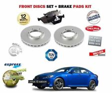 FOR LEXUS IS220D IS200D IS250C IS250 2005-> FRONT BRAKE DISC SET & DISC PAD KIT