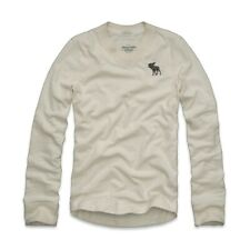 [NWT] Abercrombie & Fitch Mens V Neck Sweater Knit Ivory Size L A&F