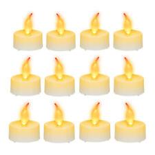 12er Set LED Teelichter, LED Kerze, Flackerlicht, Partybeleuchtung, Flackerkerze