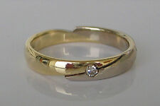Pretty🎁 Solitär in aus 14k 585 Gold Ring Brillant mit Diamant Solitaire Diamond