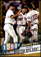 Boston Red Sox 2020 Topps Decade's Best Series 2 5x7 Gold #DB-80 /10