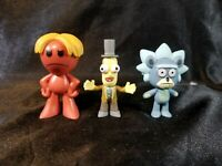 Funko Mystery Minis Rick & Morty Series 3 Professor Poopy, Teddy Rick & Kirkland
