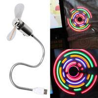 New USB 2.0 Colorful 5 LED Flexible Gooseneck USB Desk Mini Fan Portable Gadget