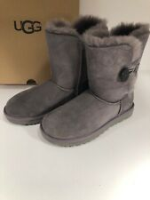 UGG Bailey Button II Grey Size 7 Women's Suede Boots 1016226 Gray