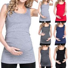 Pregnant Women Maternity Clothes Pregnancy Nursing Tops Breastfeeding Shirt Tank