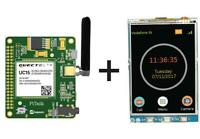 """PiTalk 3G IOT Enable & Modular SmartPhone Hat for Raspberry Pi with 3.2"""" LCD"""