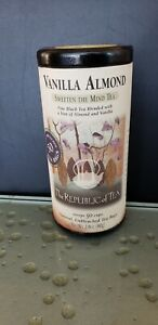 Vanilla Almond Black Tea The Republic of Tea 50 tea bag with Caffeine NEW
