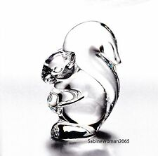 NEW in BOX STEUBEN glass SQUIRREL crystal ornament paperweight heart acorn