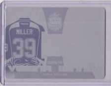 RYAN MILLER 16/17 Leaf Masked Men Vezina Winner Printing Plate #'d 1/1 One of