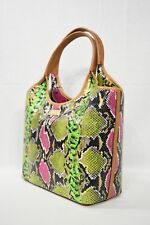 NWD RARE Brahmin Small Shopper Tote Multi Anaconda. Multi-color Embossed Leather