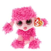 """TY Beanie Boos 6"""" PATSY the Poodle Plush Stuffed Animal Toy MWMTs Ty Heart Tags"""