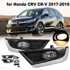 Front Fog Light Driving Lamp w/ Bezel Assembly For Honda CRV CR-V 2017 2018 2019
