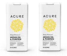 Acure Mega Moisture Shampoo – Conditioner Set Argan Oil & Pumpkin, 12 Fluid Oz.