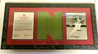 NEBRASKA FOOTBALL CORNHUSKER GAME WORN / USED PAUL MILES #21 TURF PLAQUE COA WOW
