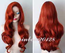 """28"""" Copper Red Jessica Rabbit Wavy Long Anime Cosplay Wig"""