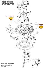 """Authentique COUNTAX RIDER & 30"""" Tracteur Série C Mini C330H Lame C350H 16-8766-01 #"""