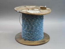 Spool of 2400+ Feet Universal 18AWG Wire Blue and White Stripe