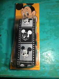 Mid 1990's Mickey Mouse Black/White/Gray Positive Negative Camera Strap Rare