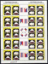 (RP99B) PHILIPPINES - 1999 THAILAND RELATIONS MINIATURE SHEETS CUT & UNCUT. MUH