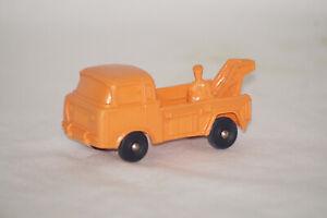 TOMTE Laerdal Stavanger Norwegen Jeep Abschleppwagen orange Gummiauto Vinyl 1:43