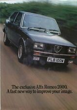 Alfa Romeo 2000 Saloon Limited Edition 1980 Original UK Sales Brochure Alfetta