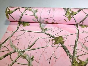 """Realtree AP Pink Cotton Poly Comfort Twill Camo Fabric 60""""W Camouflage By the Yd"""