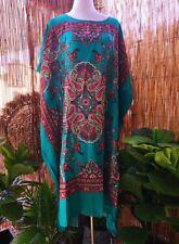 Cotton Paisley Polynesian Beach Kaftan -Dress One Size 12-14-16-18-20