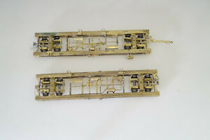 H0e 2x Rollwagen Messingmodelle (!), Hersteller unbekannt
